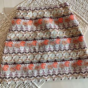 Petite Embroidered high-waisted mini skirt